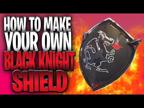 How To Make Your Own BLACK KNIGHT Shield In Fortnite!