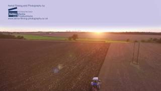 Ploughing into then sunset