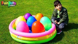 Jason Opens Easter Surprise Eggs