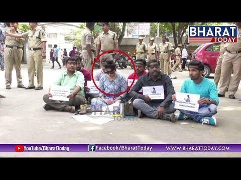 Madhavi Latha Silent Protest Supporting Pawan Kalyan   Sri Reddy Issue   Bharat Today