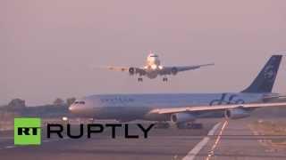 Российский лайнер едва не столкнулся с другим самолетом в аэропорту Барселоны