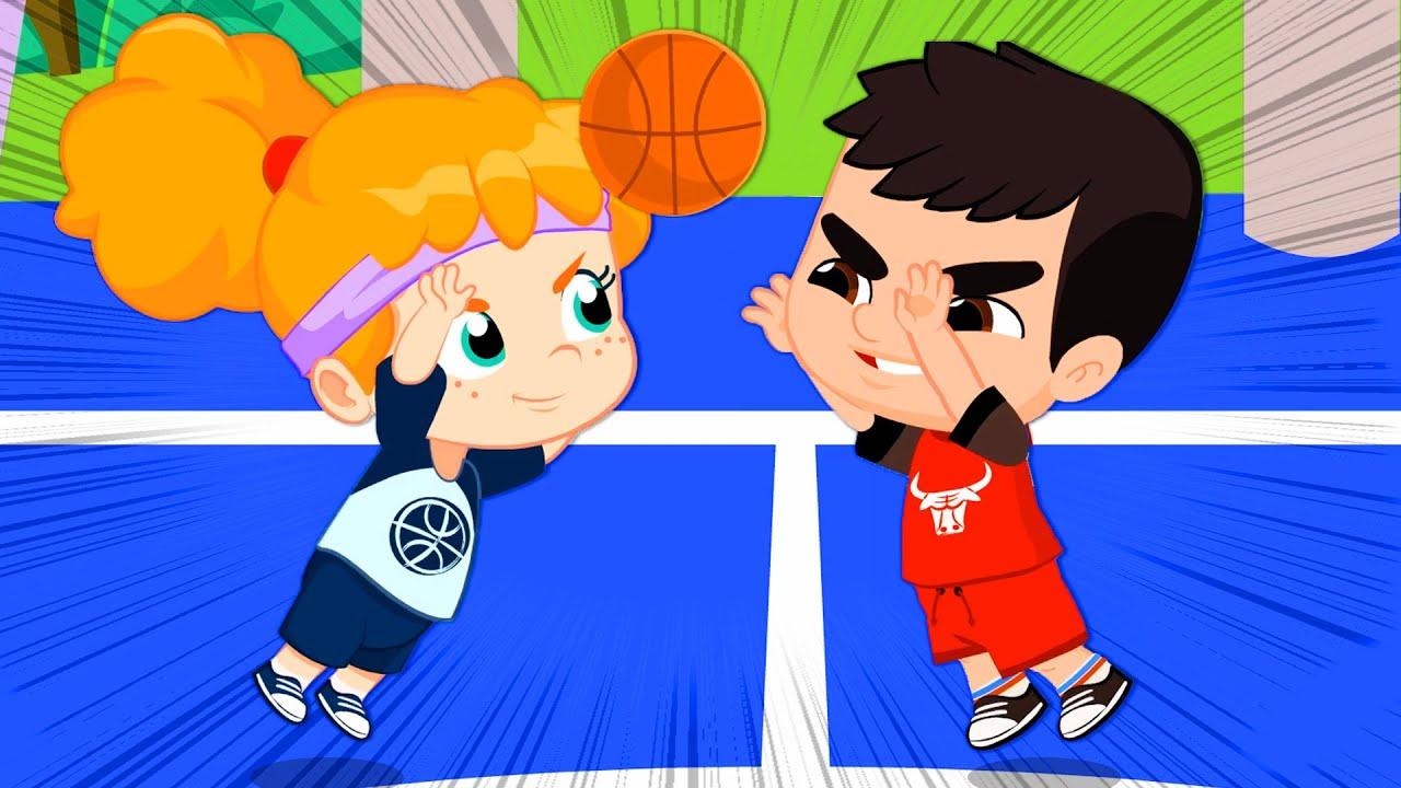 Novo episódio! ?Groovy o Marciano & Phoebe jogam basquetebol | Desporto Infantil