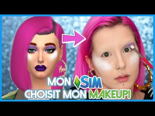 MON SIM CHOISIT MON MAQUILLAGE 😥   Sims 4 Makeup Challenge