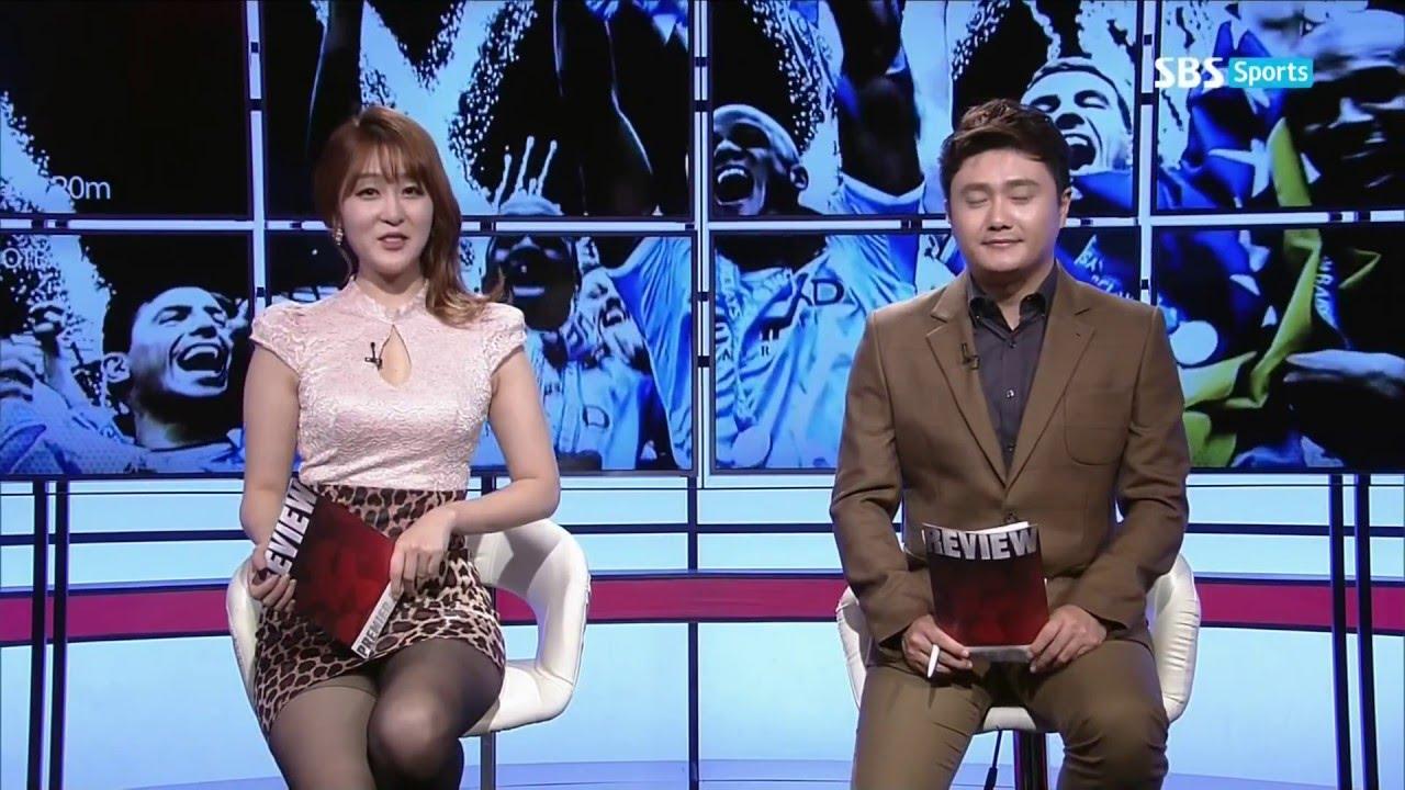 141020 EPL리뷰 신아영 韓国セクシーアナウンサーミニスカート sexy announcer anunciador atractivo