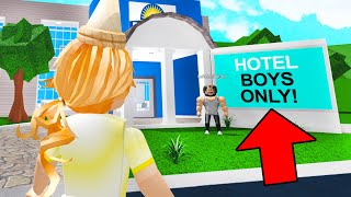 This Hotel Was BOYS ONLY.. So I Went UNDERCOVER! (Roblox Bloxburg)