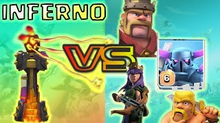 INFERNO VS MAX PEKKA | INFERNO VS HEROES | CLASH OF CLANS
