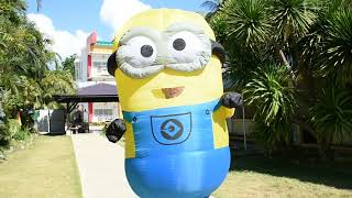 Minion inflatable costume in vacation palawan island philippine april 2018 PALAWAN SEAVIEW RESORT
