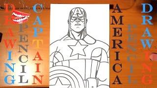 draw easy captain america marvel pencil stuff step avengers superheroes speed