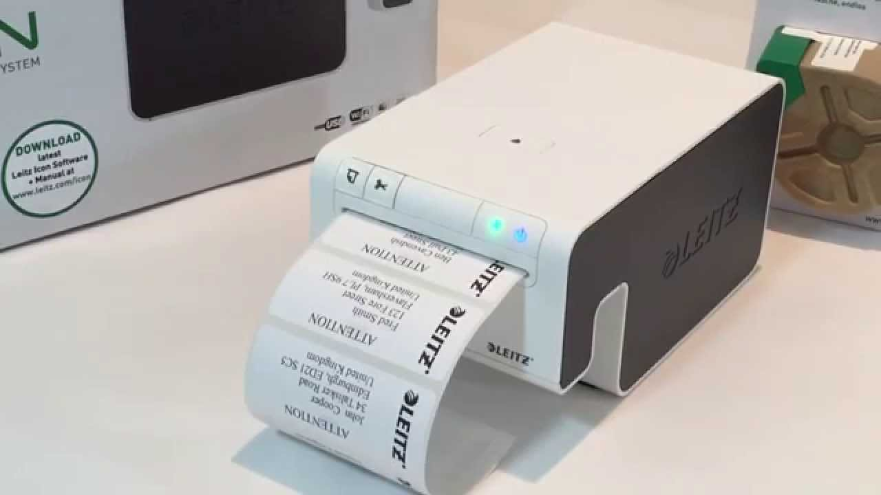 the leitz icon label printer address labels youtube With address label printer paper