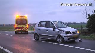 Gewonde na botsing tussen tractor en auto in Nieuwleusen