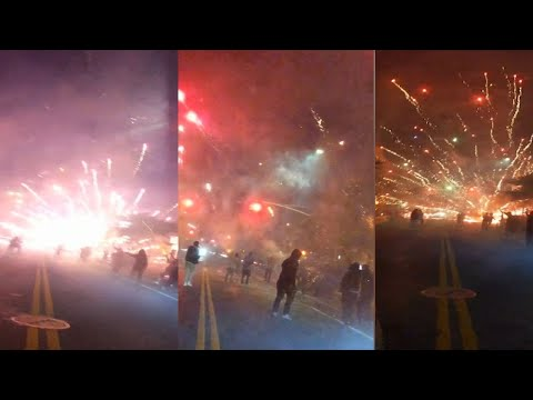 NYC cracking down on illegal fireworks, homeless man hurt