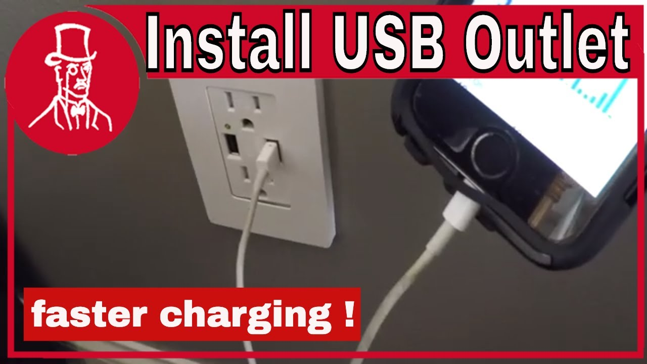 How To Install A Usb Wall Plug Outlet