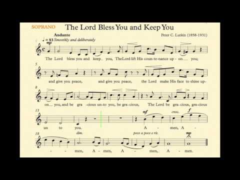 The Lord Bless You and Keep You (Lutkin) - Soprano Track