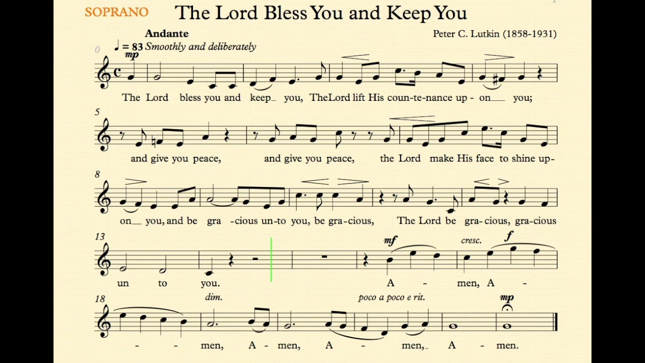 the lord bless you and keep you lutkin