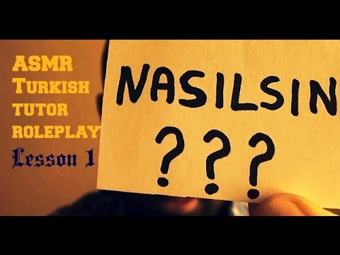 ASMR Tutor Role Play (Turkish Lesson) #1