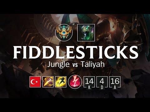 Fiddlesticks Jungle vs Taliyah - TR Challenger Patch 8.15