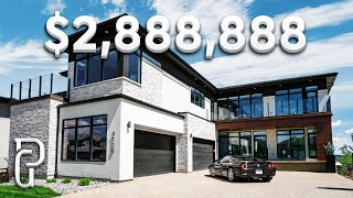 Inside a $2,888,888 Modern House in Edmonton Alberta Canada! | Propertygrams Mansion Tour