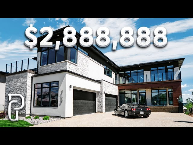 Inside a $2,888,888 Modern House in Edmonton Alberta Canada! | Propertygrams Mansion Tour