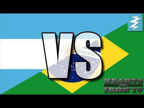 Argentina Vs Brazil Ep11 - Hearts of Iron 4 (HOI4)