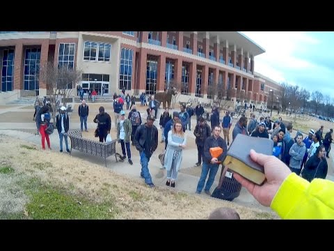 Conviction at the University of Memphis! | Open Air Preaching | Kerrigan Skelly