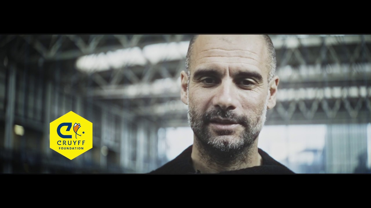 Pep Guardiola Shows Us His True Support To The Cruyff Foundation