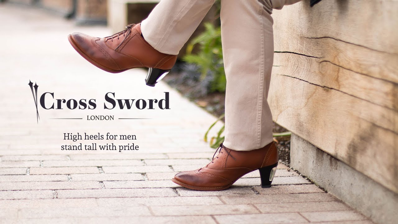 Hand crafted luxury high heels for men