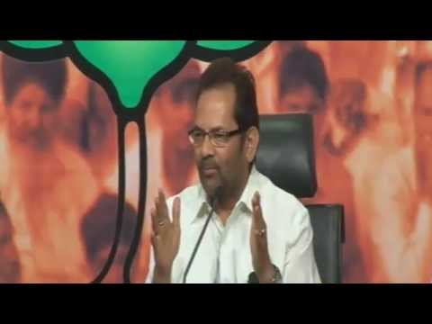 LIVE :: BJP Press Conference by Shri Mukhtar Abbas Naqvi : 24.05.2013