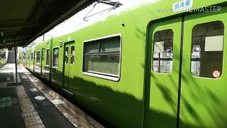 引退が決まった201系の発車シーンと奈良へ転属が決まった網干車の221系の走行シーン