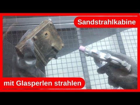 Rost entfernen mit einer Sandstrahlkabine und Glasperlen / DIY