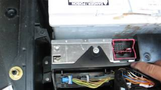 How to Remove Radio / Tuner from BMW X5 2005 for repair.