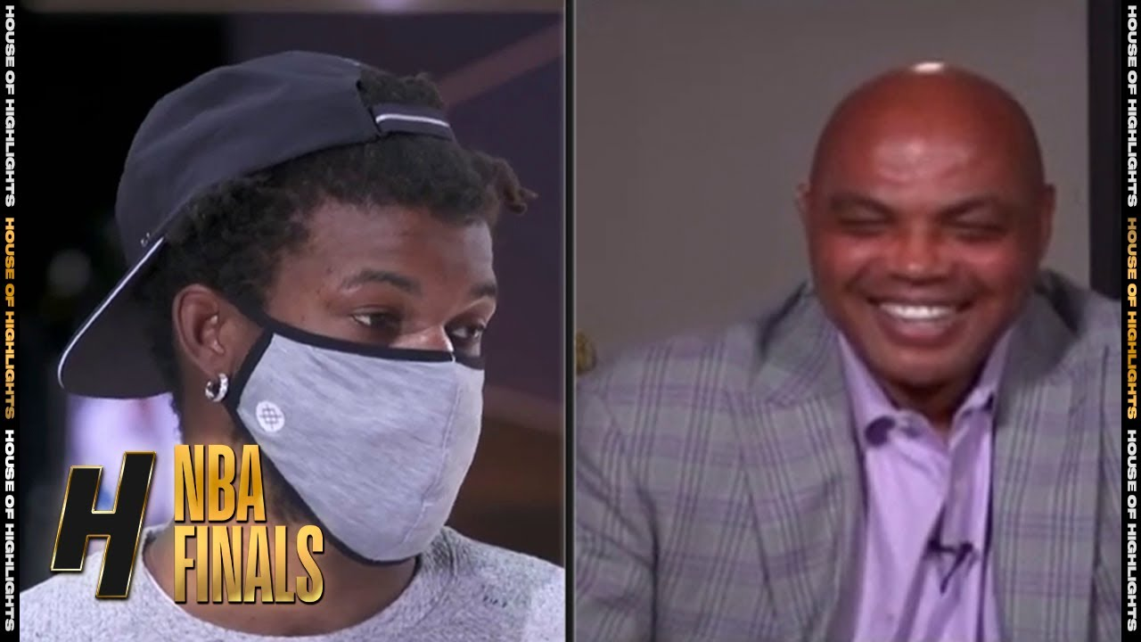 Jimmy Butler & Charles Barkley Funny Conversation - Game 3 | Lakers vs Heat | Oct 4, 2020 NBA Fi