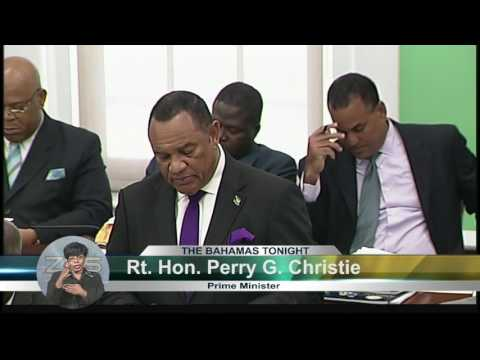 P.M CHRISTIE GIVES UPDATE ON BAHAMAS ECONOMY