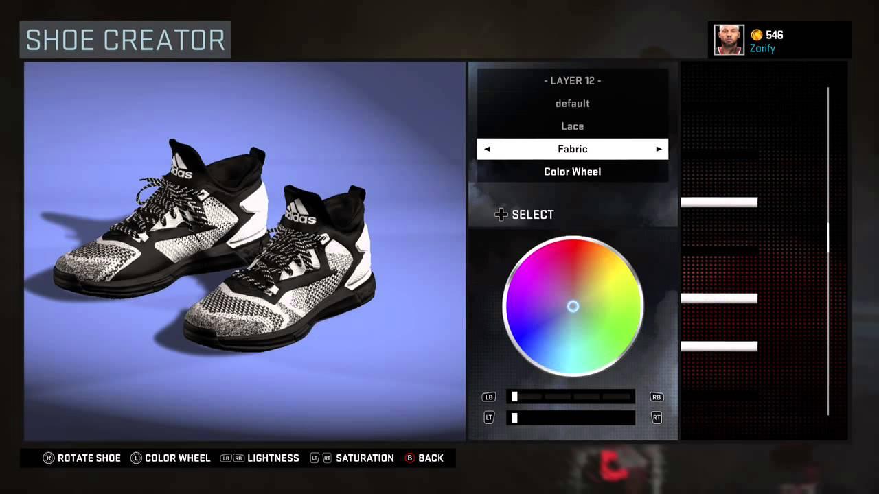 NBA 2K16 Shoe Creator - Adidas D Lillard 2