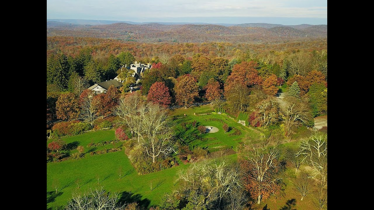 New Jersey Botanical Gardens - An Aerial View in the Fall - YouTube