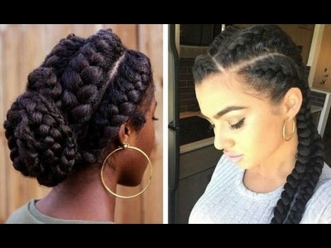 GODDESS BRAID ON NATURAL 4C HAIR: QUICK EASY TUTORIAL - YouTube