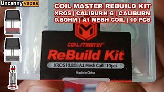How to rebuild Vapoŗesso Xros .8 ohm OCC Cartridge using Coil Master Rebuild Kit