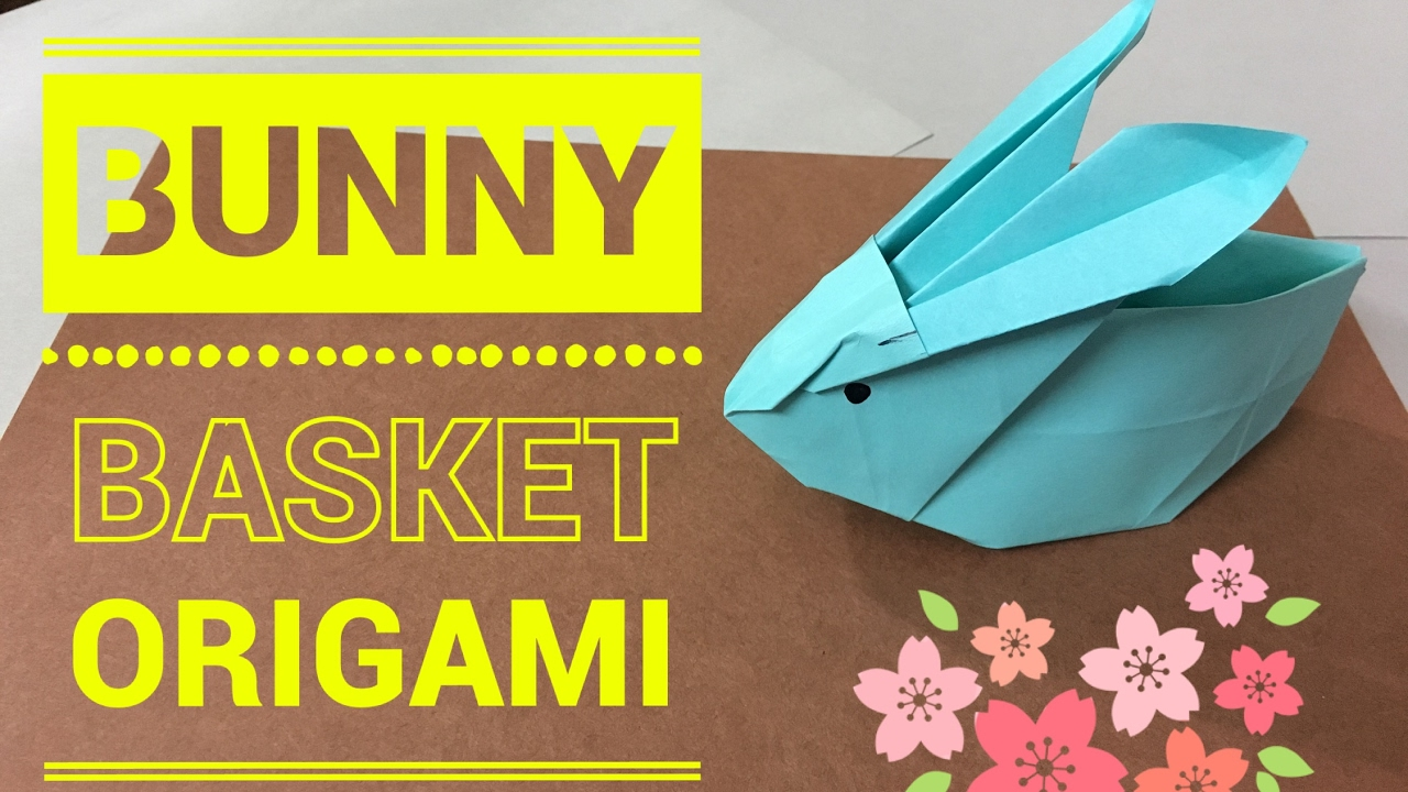 Easter Origami Inflatable Bunny. (Easy Instructions) (Full HD ... | 720x1280