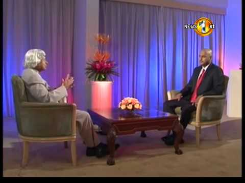 Chevaan Daniel in a fascinating conversation with The President of India, Dr. Abdul Kalam.