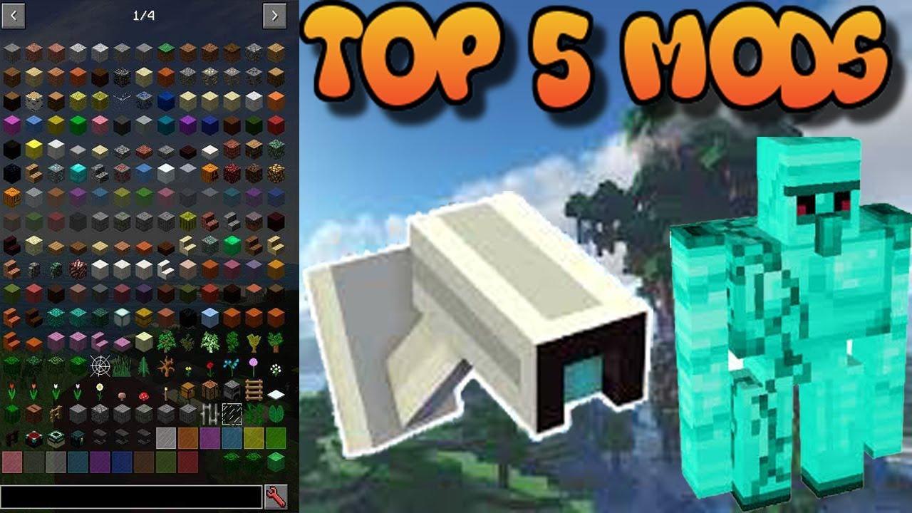 Top 5 Mods Para Minecraft 1.8.9 - YouTube