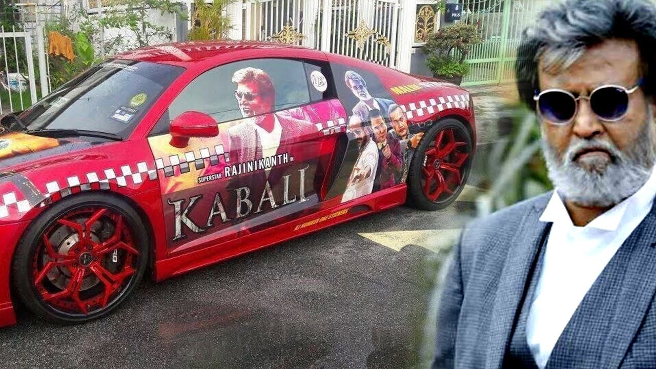 Kabali on move kabali car stickers kabali movie promo youtube
