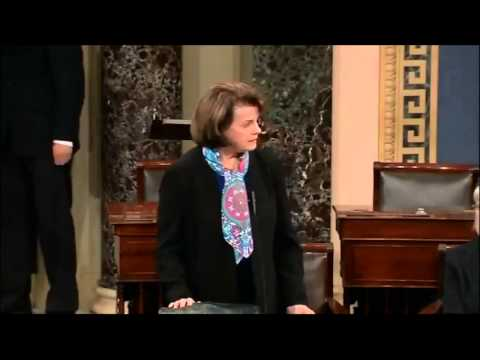 Dianne Feinstein gets told in Senate