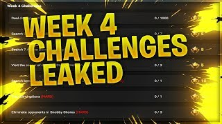 WEEK 4 CHALLENGES LEAKED // FORTNITE BATTLE ROYALE