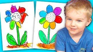 Цветик СЕМИЦВЕТИК рисование для детей