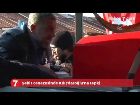 Şehit cenazesinde Kılıçdaroğlu'na tepki -VİDEO