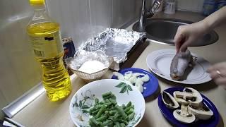 видео Диетическая запеченная рыба в фольге и в духовке