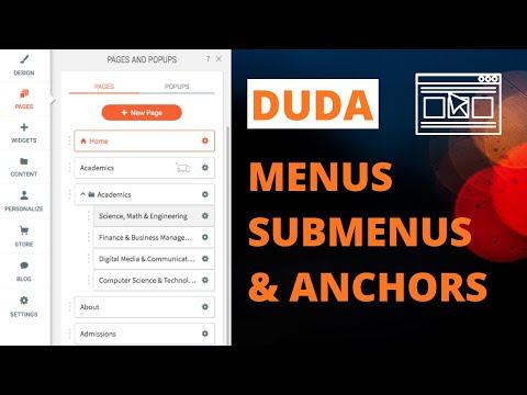 Duda Website Tutorial - Menus, Submenus, and Anchors thumbnail