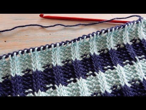 How to Crochet Tunisian Rib Stitch / Knit & Purl