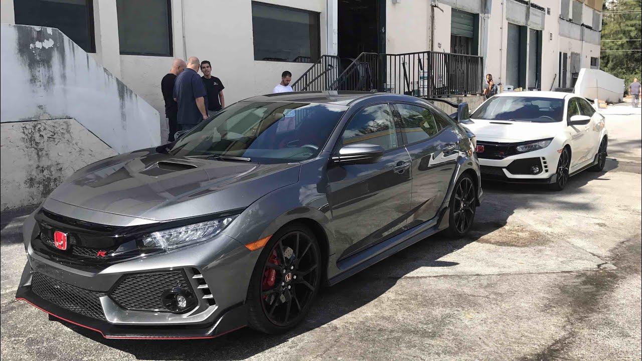 Civic Si 2018 >> 2018 Honda Civic Type R's Visit Vossen (4K) - YouTube