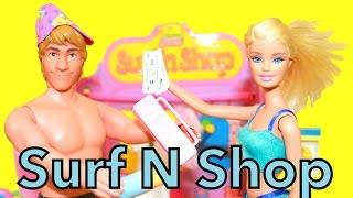 Frozen Anna Kristoff BARBIE Surf N Shop Toy AllToyCollector Ariel Little Mermaid Beach Playset