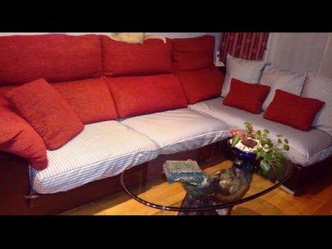 Como hacer funda para el sof aprende con lola youtube - Fundas elasticas para sofa ...
